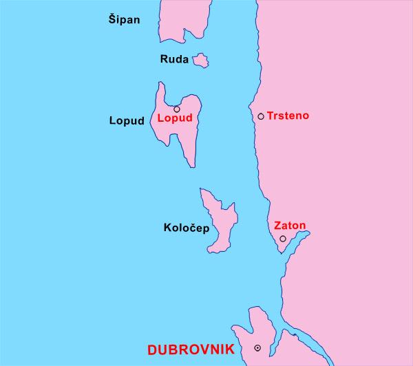 Croatie Info Cartes De La Croatie Dubrovnik Insel Lopud